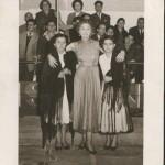 左からFlorinda Maria、Anita Guerreiro、Julieta Estrela (Rainha das Cantadeirasコンクール 1955年)